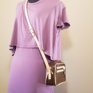 Arcadia genuine italy patent leather crossbody bag